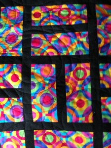 Close up of the circle quilting courtesy of Sue Kappes!